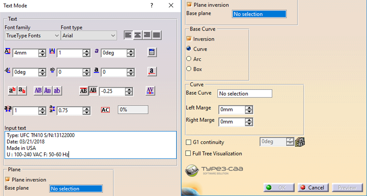 Text Creation in CATIA V5