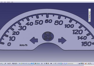 Smart CAR Dashboard CATIA Tachymeter