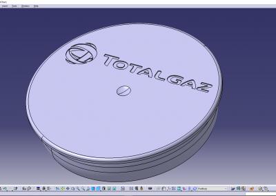 TOTAL Gaz Logo Flasc CATIA