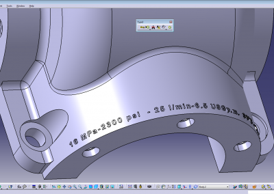 Block Gearbox Instruction text in Catia